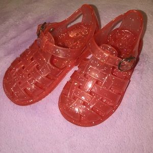 GAP Toddler Glitter Jelly Shoes, size 6